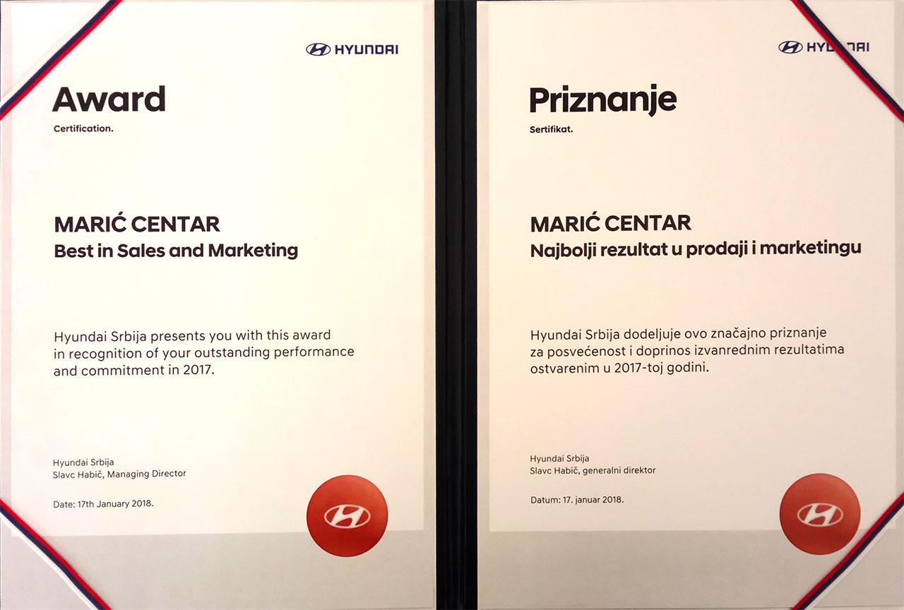 Marić centar ponovo najbolji u prodaji za 2017.